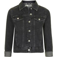 TOPSHOP MOTO Black Ecru Western Jacket (1,230 HNL) ❤ liked on Polyvore featuring outerwear, jackets, black, topshop, cowboy jacket, topshop jacket and western jacket
