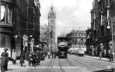 Glasgow Cross & Steeple from the Saltmarket, 1920's