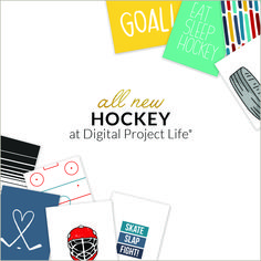 Perfect for documenting all of your hockey achievements in your Project Life Album! Project Life Scrapbook, Project Life Album, Digital Project Life, Hockey, How To Draw Hands, Paper Crafts, Projects, Cards, Photography