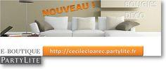 Tranquillement installé sur votre canapé, consultez ma e-boutique de bougies et objets de décoration : https://cecilecloarec.partylite.fr/Shop