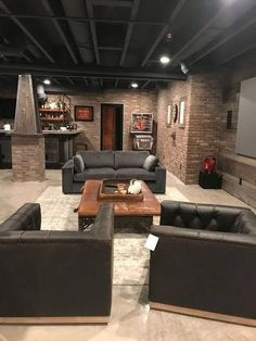 32 Awesome Basement Remodel Ideas That You Can Try - There are many people in the world who have a house which has a basement attached to it. Basement refers to an extra room or a set of rooms which are . Basement House, Basement Bedrooms, Basement Walls, Basement Flooring, Basement Ideas, Cozy Basement, Basement Layout, Basement Man Caves, Dark Basement