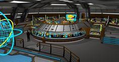 Federation Carrier Starship USS Valkyrie Bridge 1 by calamitySi on DeviantArt