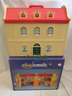 Vintage 1970s Jean Hofler Hoefler Jeanette Villa Fold Up Dolls House   Boxed