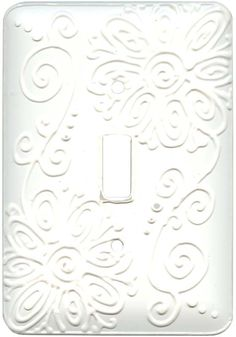 FLOWER SPIRAL White Switch Plates Image, Outlet Covers, Switchplates