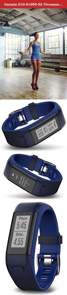 Garmin 010-01955-32 Vivosmart HR Plus - Ww, Blue, Regular. Turn your steps into strides with vivo smart HR+, the GPS activity tracker with Elevate wrist Heart rate technology. Not only does it count steps, calories, floors climbed and intensity minutes, it also uses GPS satellites to track where you jog or walk, how far and how fast. Its always-on sunlight readable touchscreen display allows you to view your stats and swipe and tap to see more. Pair it with your smartphone to control…