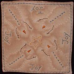 Primitive Stitchery PATTERN Square Candle Mat by thetalkingcrow, $3.00