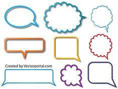 Speech Bubble Vector Illustrator Free   Download Free Vector Speech Balloon