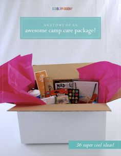 Awesome camp care package ideas guaranteed to make your camper think you're the (cool)est parent around. Camp Care Packages, Birthday Care Packages, Weekend Camping Trip, Fruit Gums, Camping Gifts, Camping Activities, Camping Essentials, Summer Kids, Happy Campers