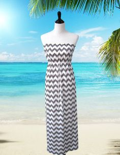 ff87acfad9 Items similar to Chevron Maxi Dress