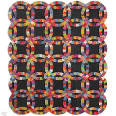 Wedding Ring Quilt broken down into squares seems more doable this