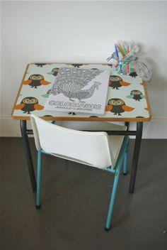 Bureau Enfant Avec Tiroir Esprit Formica Style R Tro
