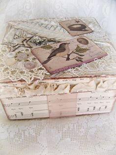 Estilo vintage caja alterada: