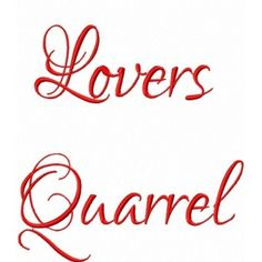Lovers Quarrel embroidery font