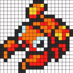 Paras Pokemon Sprite Perler Bead Pattern / Bead Sprite