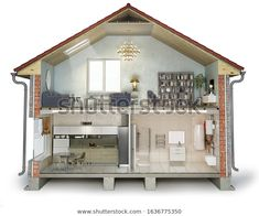 Find House Cross Section View On Bathroom stock images in HD and millions of other royalty-free stock photos, illustrations and vectors in the Shutterstock collection. Cross Section, Liquor Cabinet, Stock Photos, Bathroom, Architecture, Illustration, House, Image, Home Decor