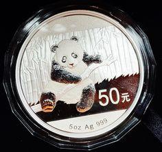 2014 China 5oz 50 Yuan Silver Panda with COA and Original Box