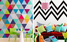 Resultado de imagem para parede com listras geometricas