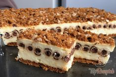 Pudingos szelet kakaókrémes ostyarudacskával | TopReceptek.hu Hungarian Recipes, Dessert For Dinner, No Bake Cake, Sweet Tooth, Cheesecake, Dessert Recipes, Food And Drink, Sweets, Cookies