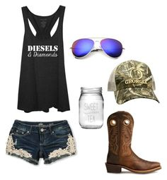 """""""I wanna move to Georgia"""" by johndeerebabe on Polyvore featuring Ariat, Susquehanna Glass, Almost Famous and Realtree"""