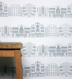 Deco Building Wallpaper
