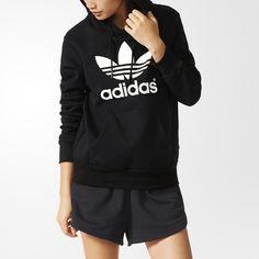 Conçu en molleton confortable, ce sweat-shirt à capuche femmes affiche un  col montant 67ef9e5af348
