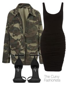 """Untitled #834"" by thecurvyfashionistaa ❤ liked on Polyvore featuring Topshop and Yves Saint Laurent"