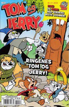 GCD :: Cover :: Tom og Jerry Aktivitetshefte; Tom og Jerry Aktivitet #4/2018 Tom Og Jerry, Toms, Comic Books, Funny, Cover, Art, Art Background, Kunst, Funny Parenting