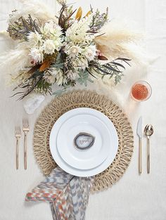 Bohemian white dinnerware style for Crate and Barrel by 100 Layer Cake