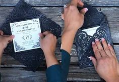 Cheap Rustic DIY Wedding Invitations Ideas - Easy Country Wedding Invitation Envelopes - DIY Projects