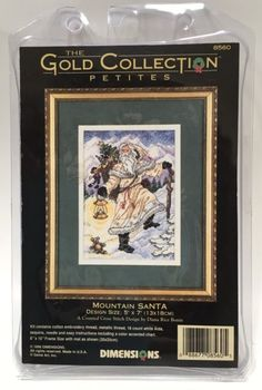 Dimensions Gold Collection Petites Mountain Santa Christmas Cross Stitch Kit | eBay