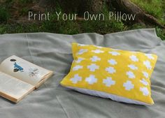 Print your own pillow fabric paint