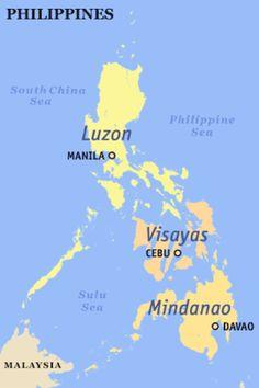 El archipileago de las islas Filipinas tiene 7.107 islas1 y está dividido en tres grupos de islas: el grupo de Luzón, el grupo de las Visayas y el grupo Mindanao. Los grupos de Luzón y Mindanao se nombran según la isla principal del grupo, de igual nombre —islas de Luzón y de Mindanao— mientras que el grupo de Visayas corresponde a un archipiélago, el de las islas Visayas.
