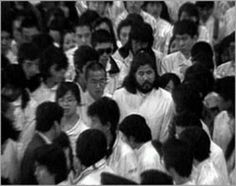 Aum Shinriky members around leader While this first bioterrorist act on American soil went almost unnoticed, a decade later the work of another cult sparked a flurry of media coverage and government response. Tokyo Subway, Rotc, Cell Membrane, A Decade, Change The World, Creepy, Scary, The Past, Libros