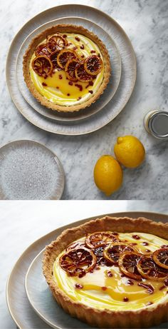 Lemon and Mascarpone Tart - An easy tart for any occasion, it certainly looks a lot more difficult to make than it is!