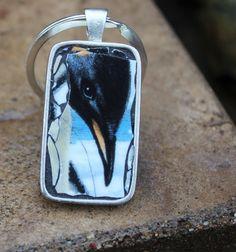 Pepper Mosaic Penguin Key Chain Stocking Stuffer by JumbleMosaics