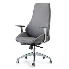 Impacterra Canjun High-Back Leather Executive Chair Upholstery: Gray