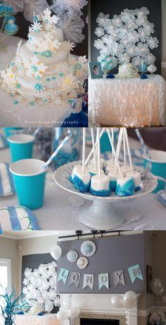 Gorgeous birthday backdrop Genie Leigh Photography Disney Frozen Theme