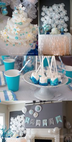 Gorgeous birthday backdrop Genie Leigh Photography Disney Frozen Theme