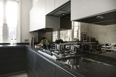 Kitchen - Highlight Antique Mirror Splashback looks amazing and really opens up the home.