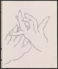 Citation: Drawing of gesturing hands, between 1930 and 2009. Ray Yoshida papers, Archives of American Art, Smithsonian Institution.