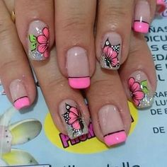 Pin on Nail designs French Manicure Gel, Manicure And Pedicure, French Manicures, Spring Nails, Summer Nails, Diy Nails, Cute Nails, Gold Glitter Nails, Birthday Nails