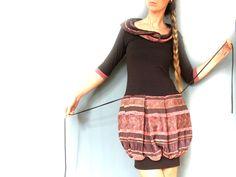 ♥ galina ♥ ballon- kleid mit kapuze in lachs braun von RotYve auf DaWanda.com