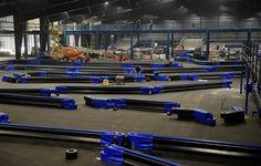 Huge NasKart Racing indoor go-kart racetrack and trampoline jumping park taking shape in #Montville, Connecticut