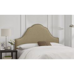 Arch Nail Head Linen Upholstered Headboard