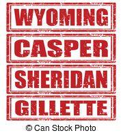 sellos, Conjunto. Wyoming