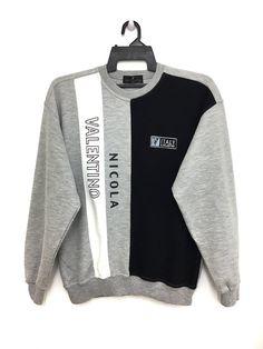 99c1cb497b6 Valentino 🔥🔥 Rare!! Vintage Nicola Valentino Italy Sweatshirt Jumper  Color Block Large Size