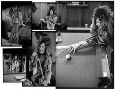Janis Joplin playing pool | facebook  Photos by Baron Wolman