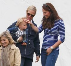 Zara Tindall, Mia Tindall & Duchess of Cambridge, Beaufort Polo Club, June 14, 2015