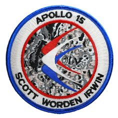 Apollo 15 Embroidered Mission Patch Apollo Space Program, Nasa Space Program, Apollo Spacecraft, Apollo 16, Space Patch, Nasa Patch, Nasa History, Vintage Space, Man On The Moon