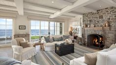 Dennis Miller's California Beach House as featured on Between Naps on the Porch